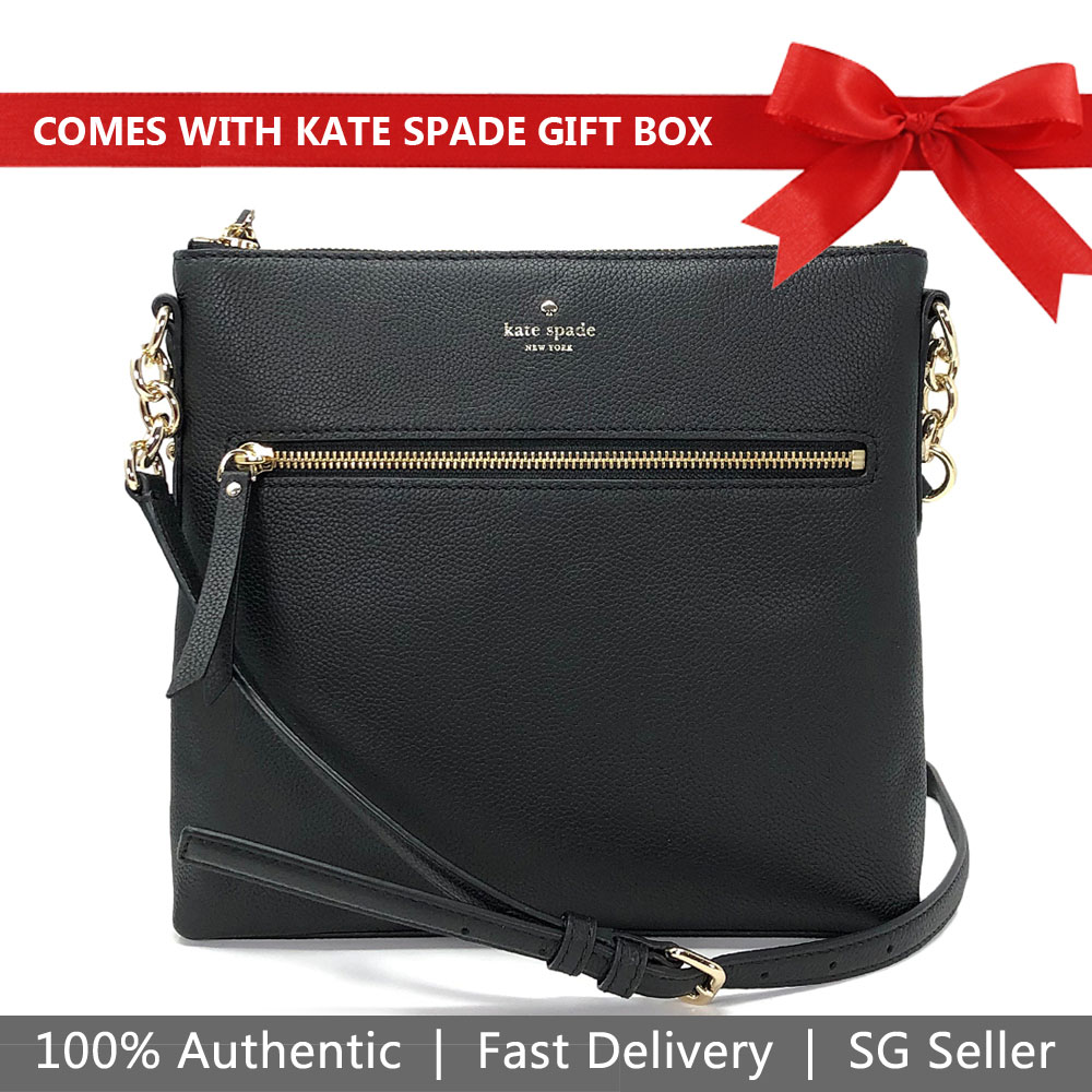 Kate Spade Crossbody Bag In Gift Box Larchmont Avenue Shellie Black # WKRU5766