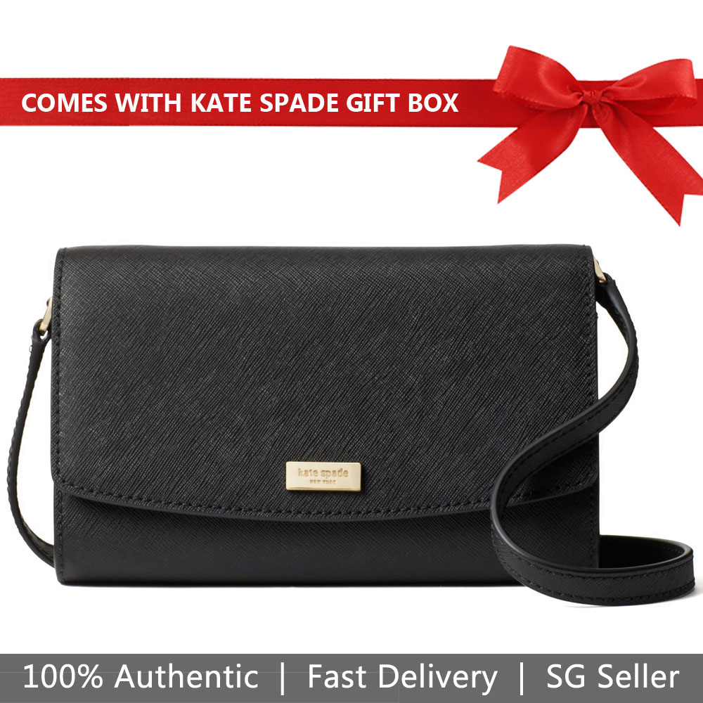 Kate Spade Crossbody Bag In Gift Box Laurel Way Addison Black # WLRU5290