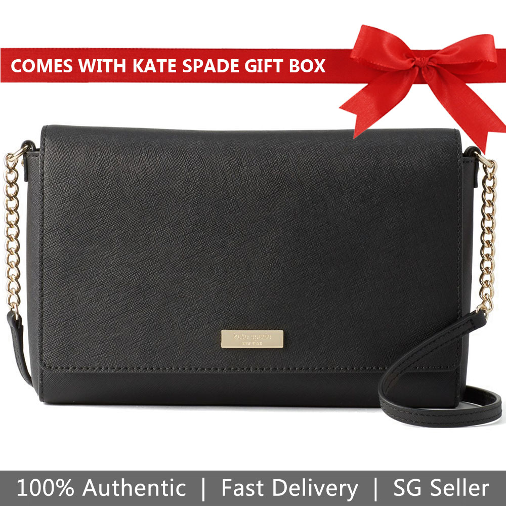 Kate Spade Crossbody Bag In Gift Box Tilden Place Alek Black # WKRU4642