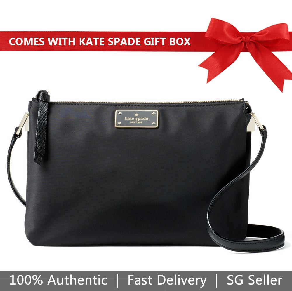 Kate Spade Crossbody Bag In Gift Box Wilson Road Madelyne Black # WKRU4920