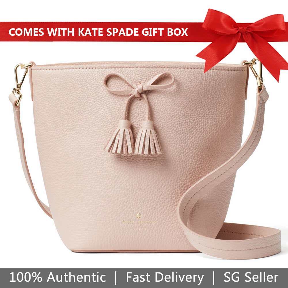 Kate Spade Crossbody Bag In Gift Box With Dust Bag Hayes Street Vanessa Warm Vellum Nude Beige # PXRU9169