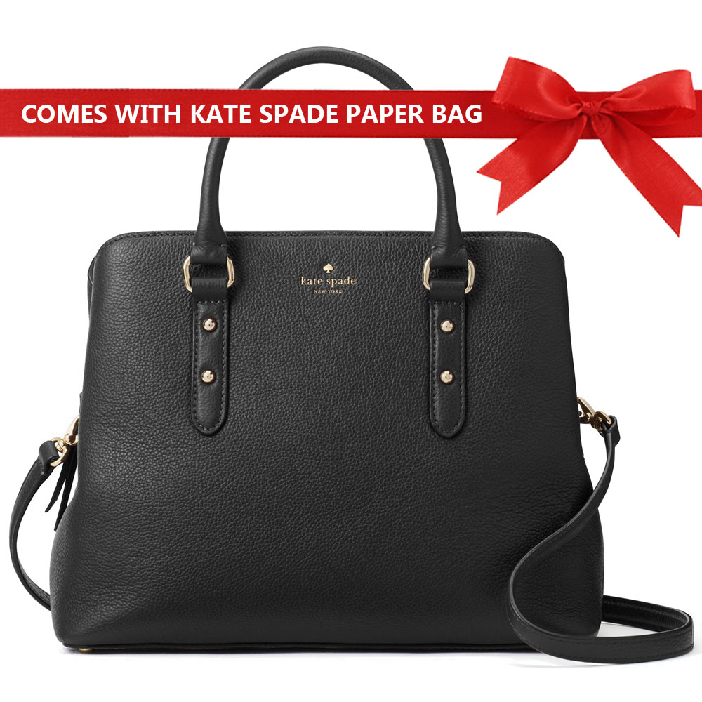 Kate Spade Crossbody Bag Larchmont Avenue Evangelie Satchel Black # WKRU5376