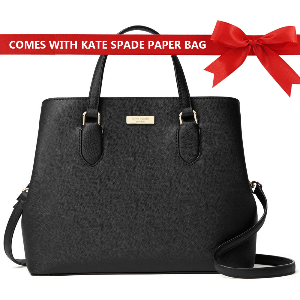 Kate Spade Crossbody Bag Laurel Way Evangelie Satchel Black # WKRU3930