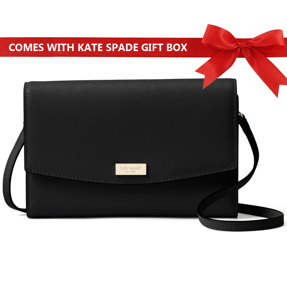 Kate Spade Crossbody Bag Laurel Way Winni Wallet Crossbody Bag Black # WLRU2667