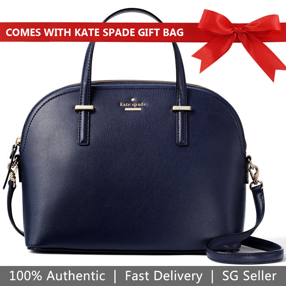 Kate Spade Crossbody Bag Patterson Drive Carli Dome Oceano Navy Dark Blue # WKRU5305