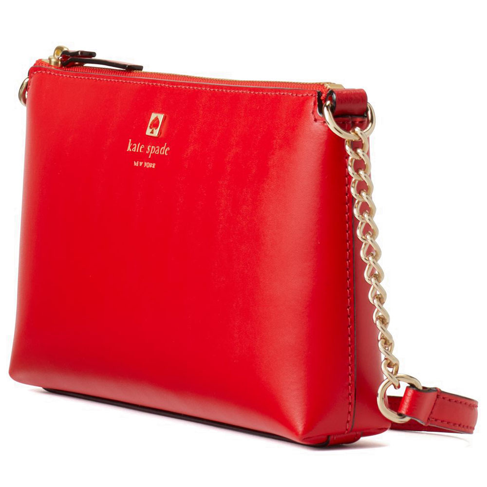 Kate Spade Crossbody Bag Weller Street Declan Lacquer Red # WKRU5065