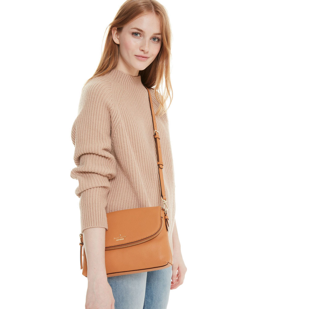 Kate Spade Crossbody Bag With Dust Bag Jackson Street Harlyn Passion Fruit Light Brown # PXRU7831
