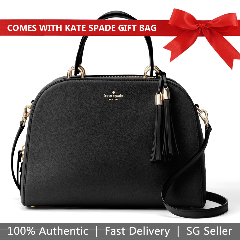 Kate Spade Crossbody Bag With Gift Bag Atwood Place Bayley Satchel Black # WKRU5321