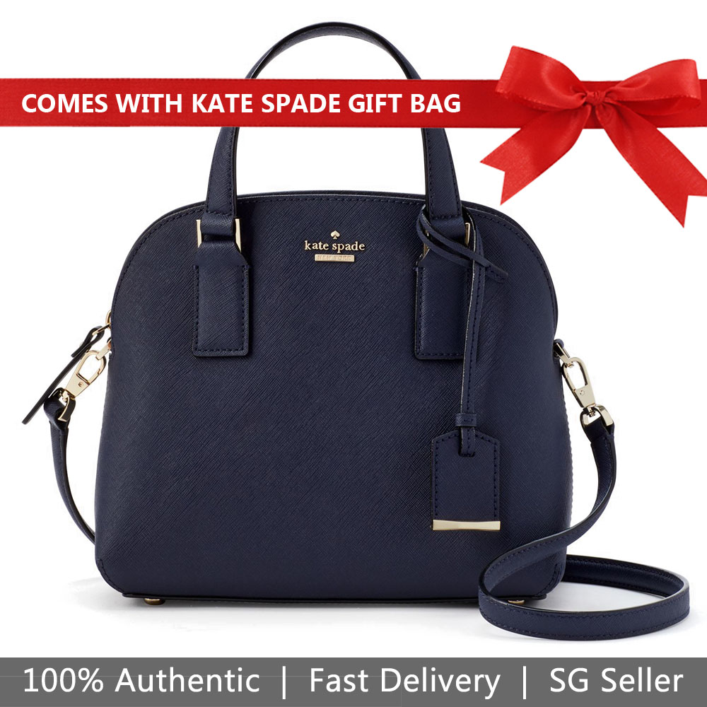 Kate Spade Crossbody Bag With Gift Bag Cameron Street Small Lottie Blazer Blue # PXRU8885
