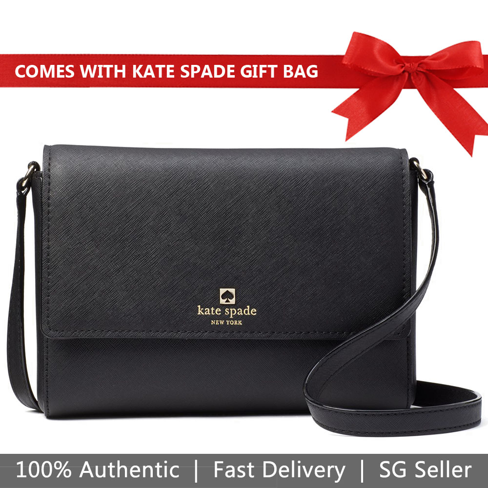 Kate Spade Crossbody Bag With Gift Bag Cove Street Dody Black # WKRU5362