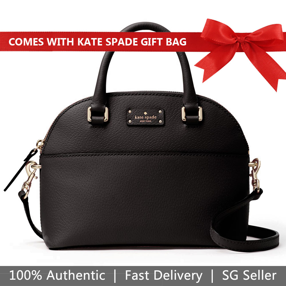 Kate Spade Crossbody Bag With Gift Bag Grove Street Mini Carli Black # WKRU4928