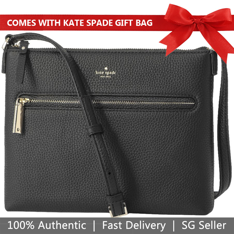Kate Spade Crossbody Bag With Gift Bag Hopkins Street Gabrielle Black # PXRU7825