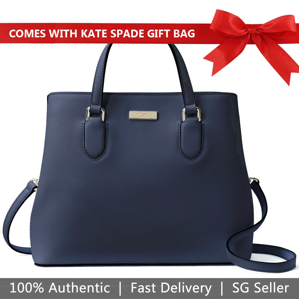 Kate Spade Crossbody Bag With Gift Bag Laurel Way Evangelie Oceanic Dark Blue # WKRU3930