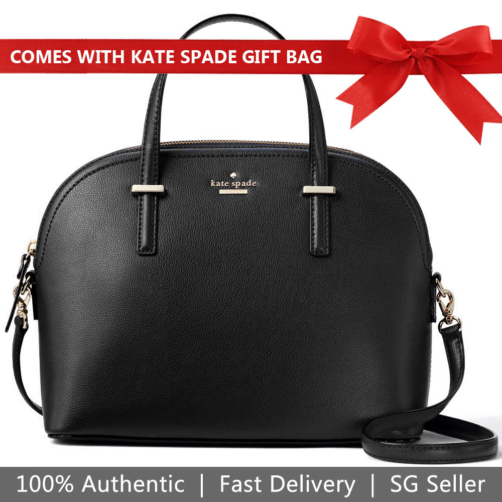 Kate Spade Crossbody Bag With Gift Bag Patterson Drive Carli Dome Black # WKRU5305