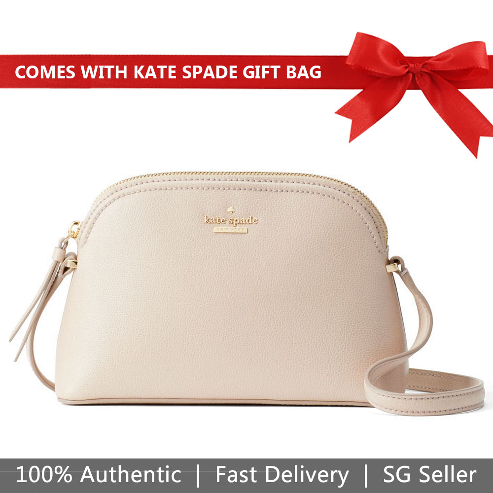 Kate Spade Crossbody Bag With Gift Bag Patterson Drive Peggy Warm Beige Nude # WKRU5662