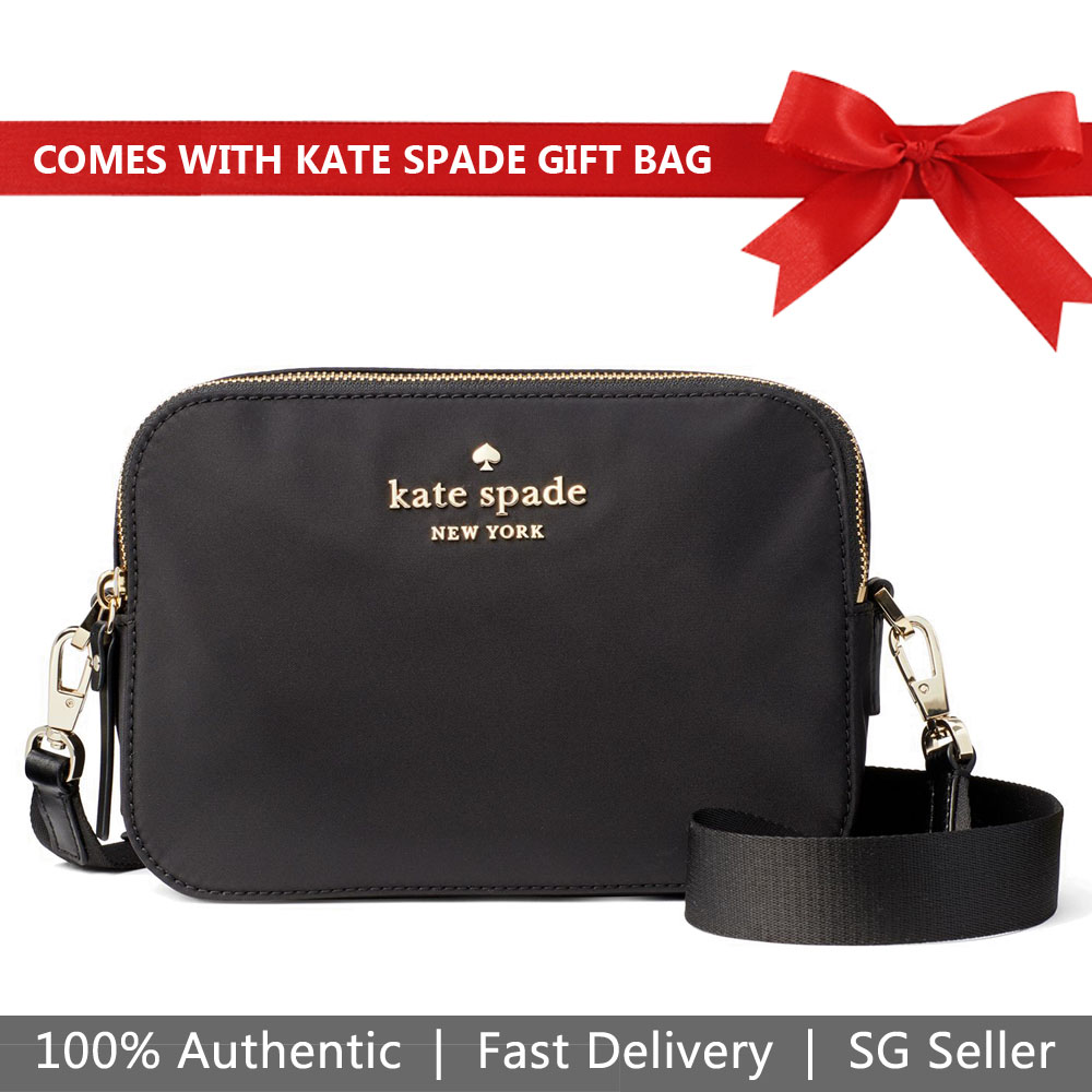 Kate Spade Crossbody Bag With Gift Bag Watson Lane Amber Black # PXRU9283