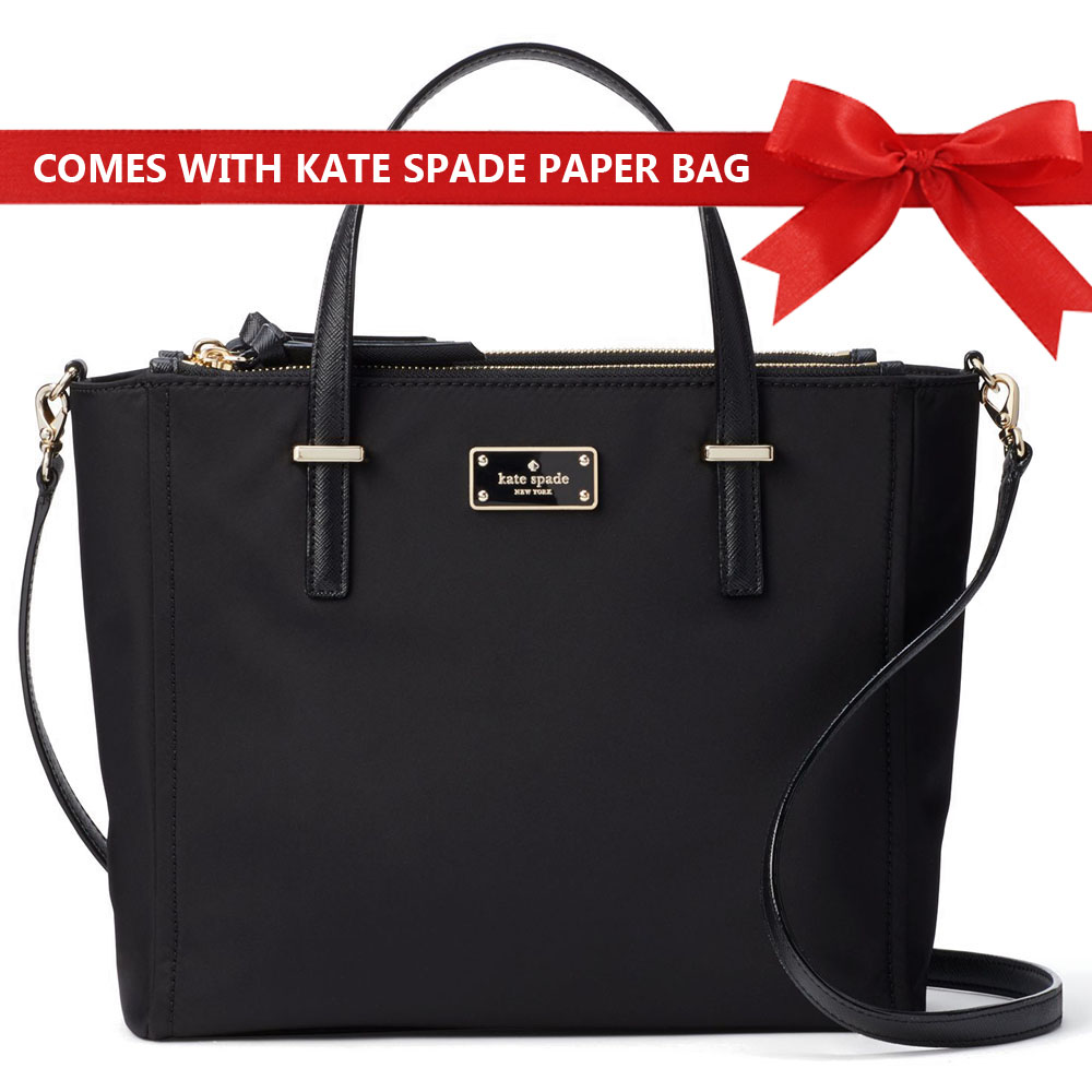 Kate Spade Crossbody Bag With Gift Bag Wilson Road Alyse Satchel Black # WKRU4715