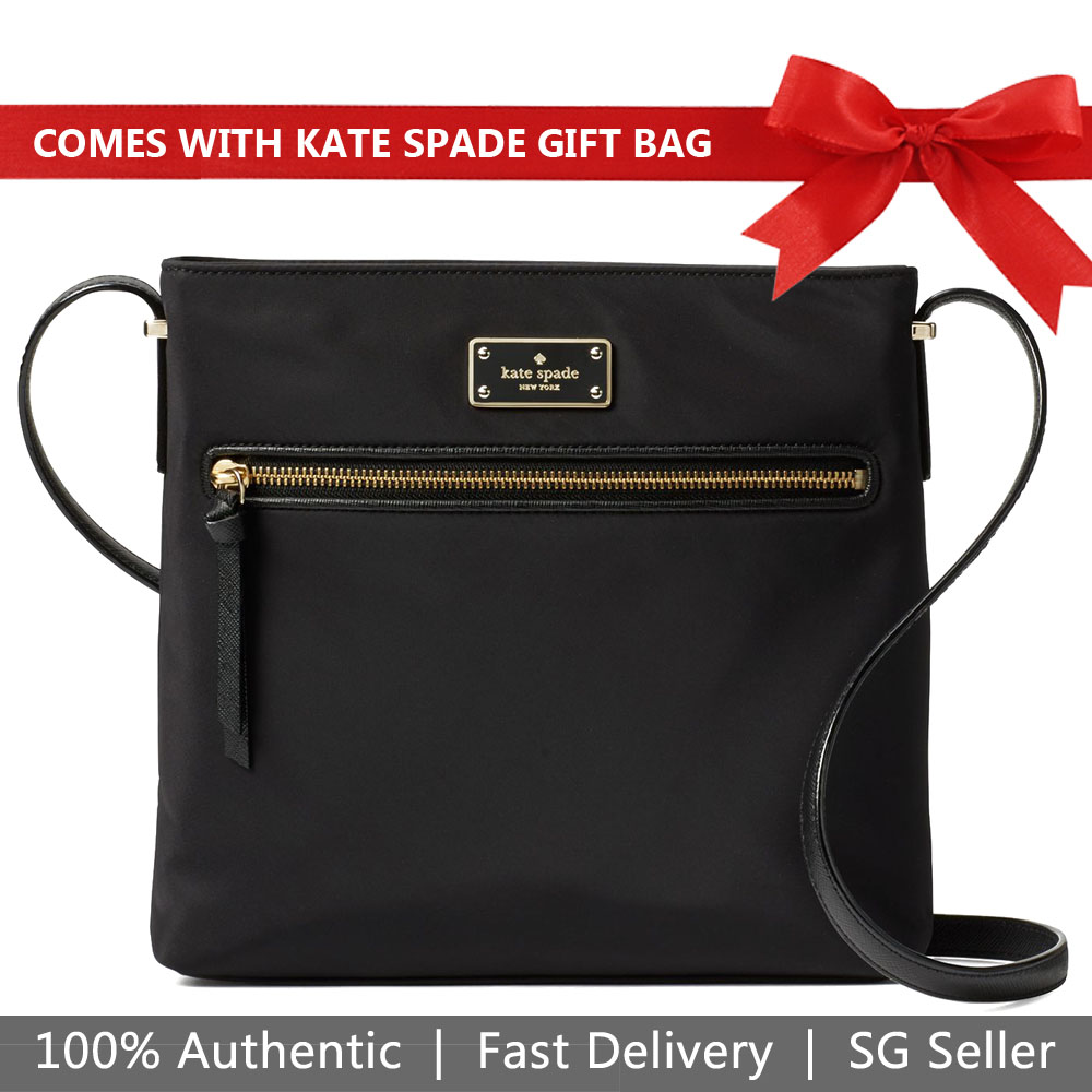 Kate Spade Crossbody Bag With Gift Bag Wilson Road Dessi Black # WKRU4713