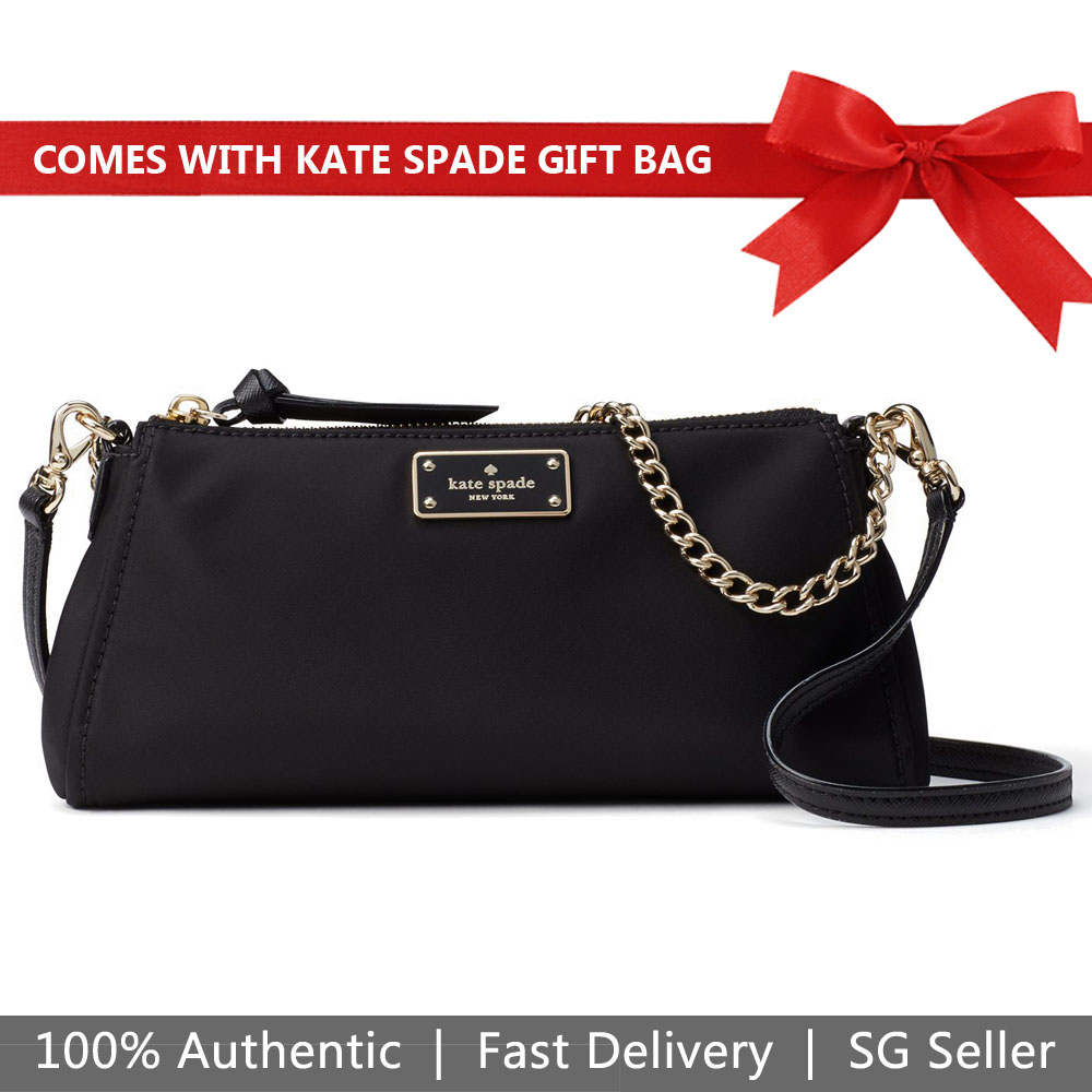 Kate Spade Crossbody Bag With Gift Bag Wilson Road Jane Black # WKRU5398