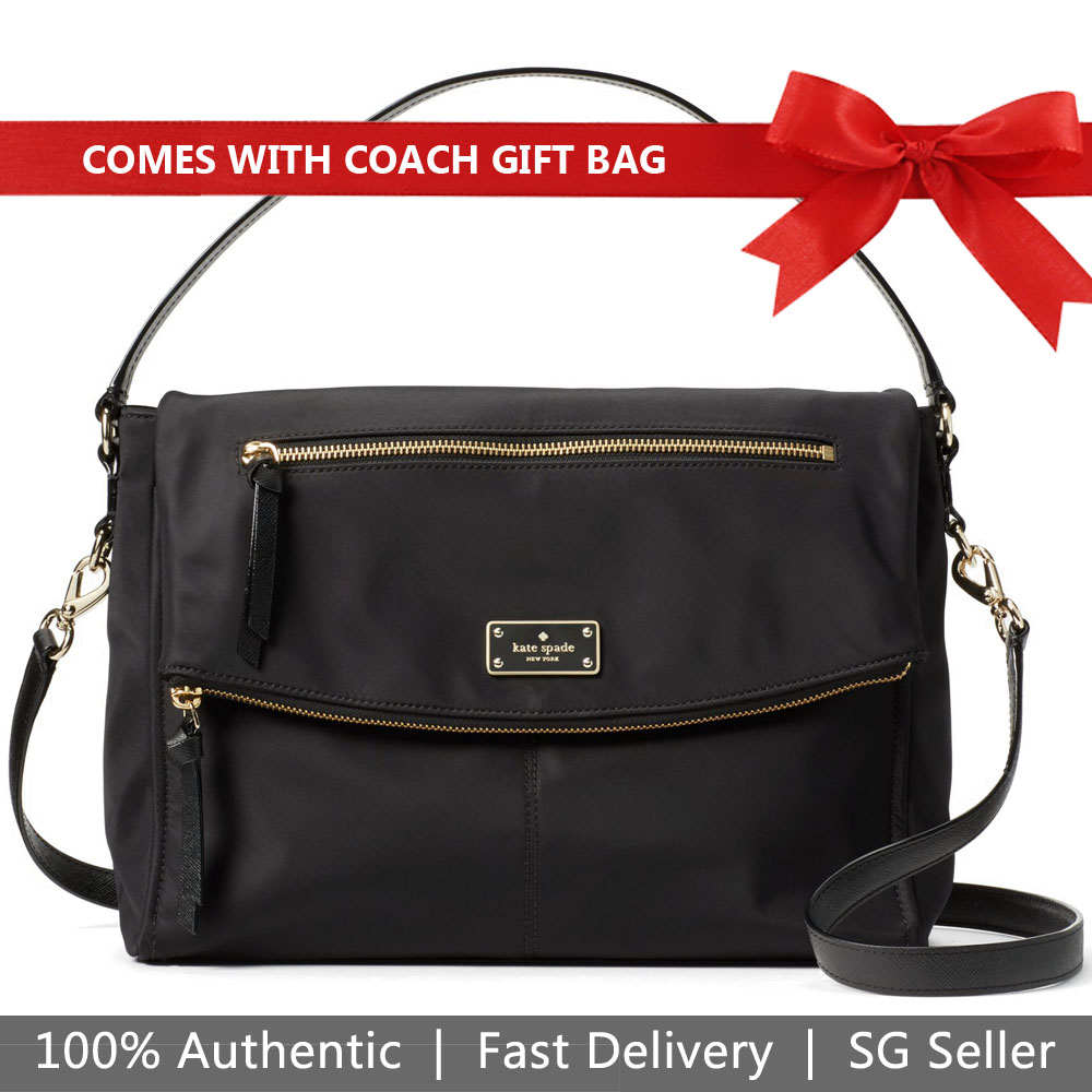 Kate Spade Crossbody Bag With Gift Bag Wilson Road Lyndon Black # WKRU4919