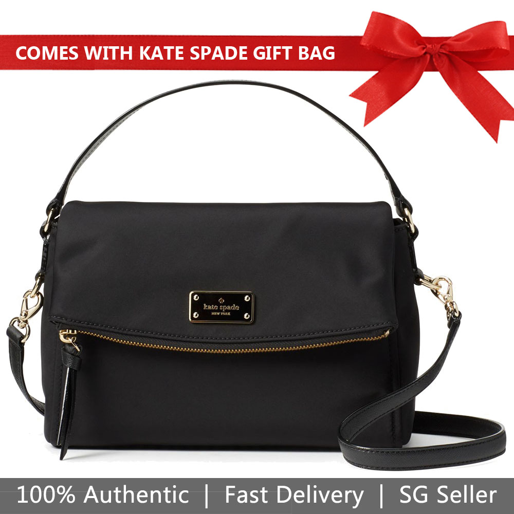 Kate Spade Crossbody Bag With Gift Bag Wilson Road Miri Black # WKRU4921