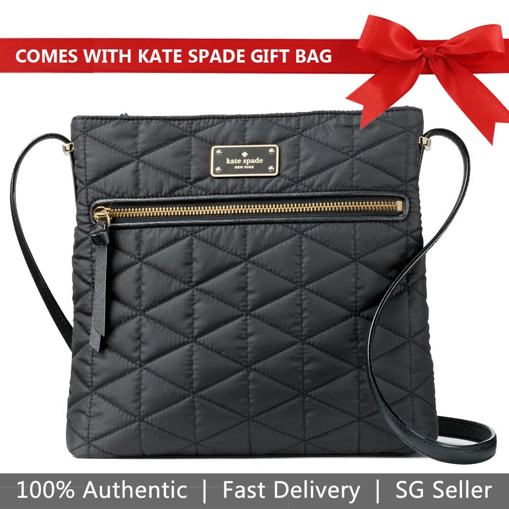 Kate Spade Crossbody Bag With Gift Bag Wilson Road Quilted Dessi Black # WKRU4746