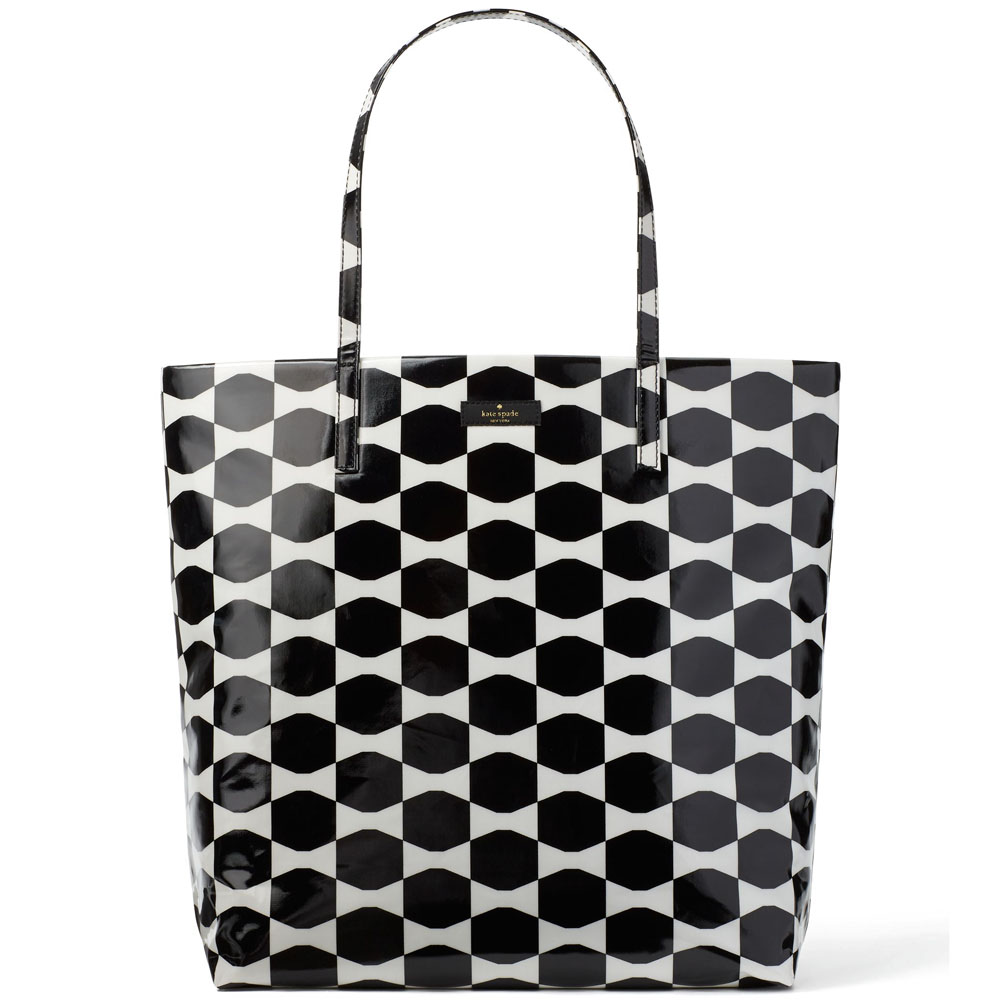 Kate Spade Daycation Bon Shopper Black / Cream # WKRU3238