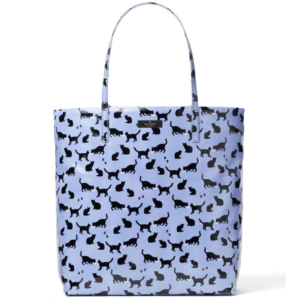 Kate Spade Daycation Bon Shopper Blue Cat Print # WKRU4540