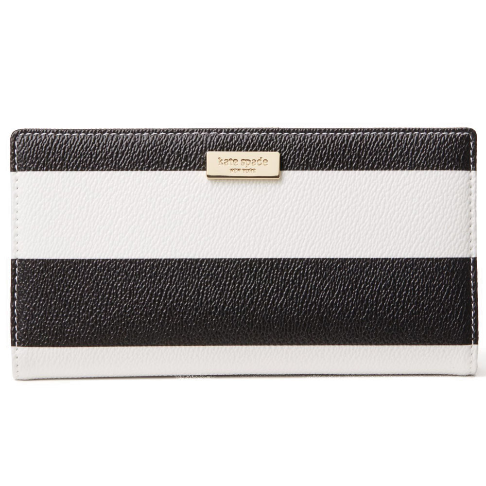 Kate Spade Eden Street Stacy Black / Cream Stripe # WLRU3059