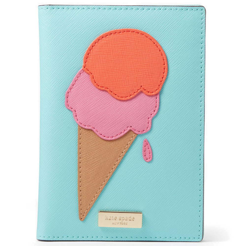 Kate Spade Flavor Of The Month Passport Holder Multicolor Ice Cream Pop / Blue # WLRU2834