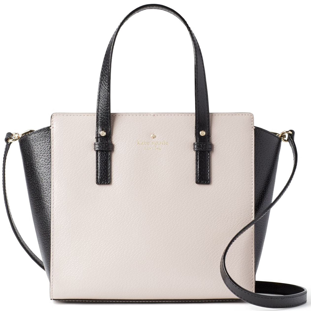 Kate Spade Grand Street Colorblock Small Hayden Crossbody Bag Mousse Frosting / Black # WKRU4565