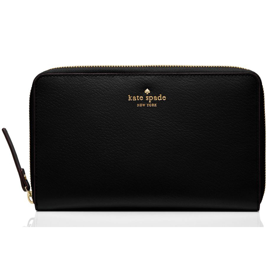 Kate Spade Grand Street Travel Wallet Black # WLRU1837