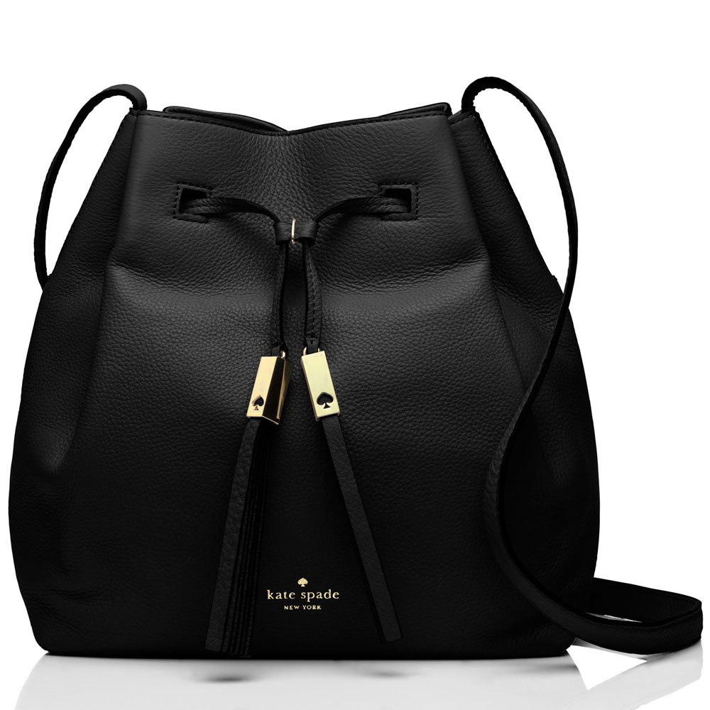 Kate Spade Grey Street Cooper Crossbody Bucket Bag Black # WKRU3057