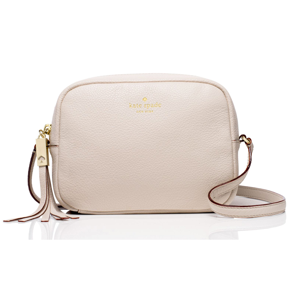 Kate Spade Grey Street Mindy Crossbody Bag Pebble Grey # WKRU3318