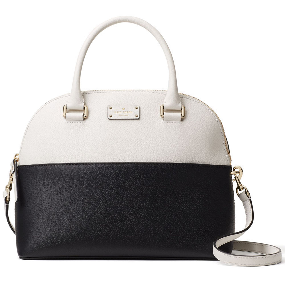 Kate Spade Grove Street Carli Black / Cement Cream White # WKRU4192