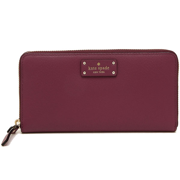 Kate Spade Grove Street Neda Long Wallet Rioja Magenta Red # WLRU2820