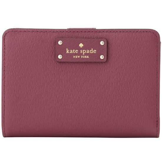 Kate Spade Grove Street Tellie Small Wallet Rioja Magenta Red # WLRU2822