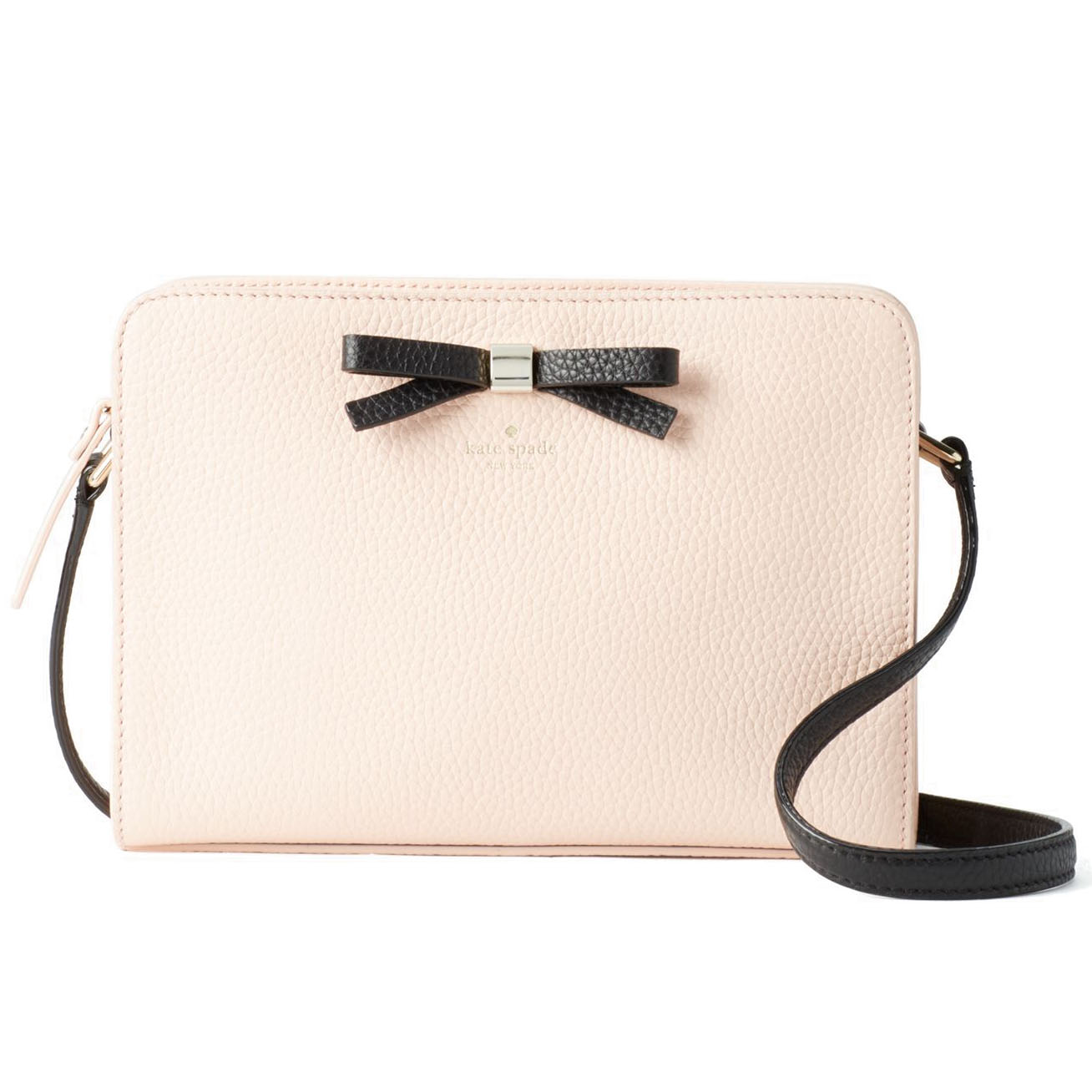 Kate Spade Henderson Street Fannie Crossbody Bag Black / Urchin Pink # WKRU4578