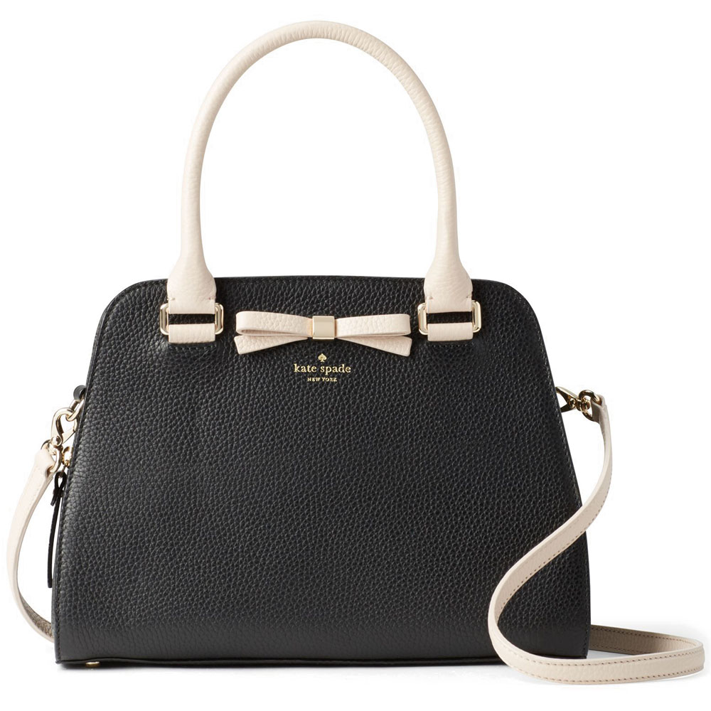 Kate Spade Henderson Street Sawyer Crossbody Bag Black / Pumice # WKRU4580
