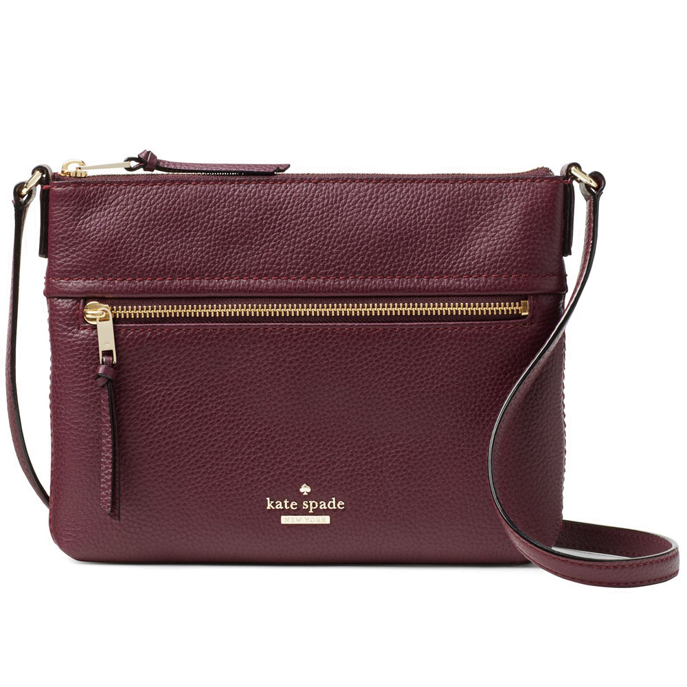Kate Spade Jackson Street Gabriele Crossbody Bag Plum Red # PXRU7922