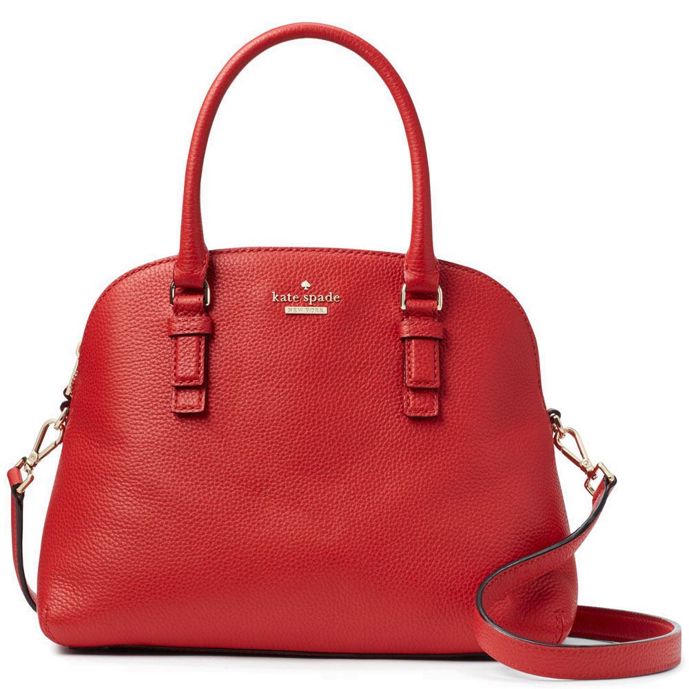 Kate Spade Jackson Street Lottie Satchel Crossbody Bag Red Carpet # PXRU8046