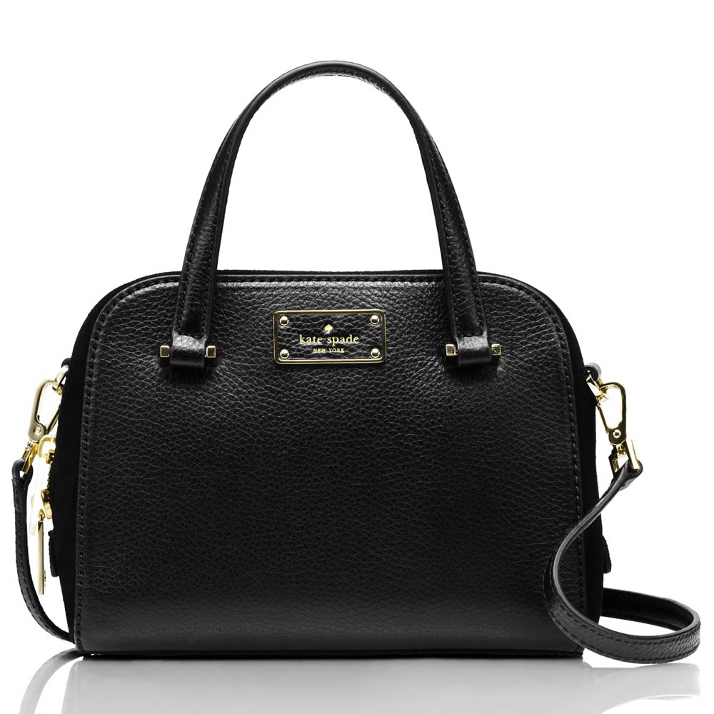 Kate Spade Kay Street Pebble Mini Felix Satchel Crossbody Bag Black # WKRU3516