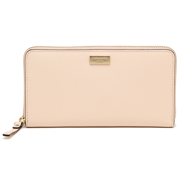 Kate Spade Laurel Way Neda Zip Around Continental Long Wallet Antlsbubbl Nude Beige # WLRU2669
