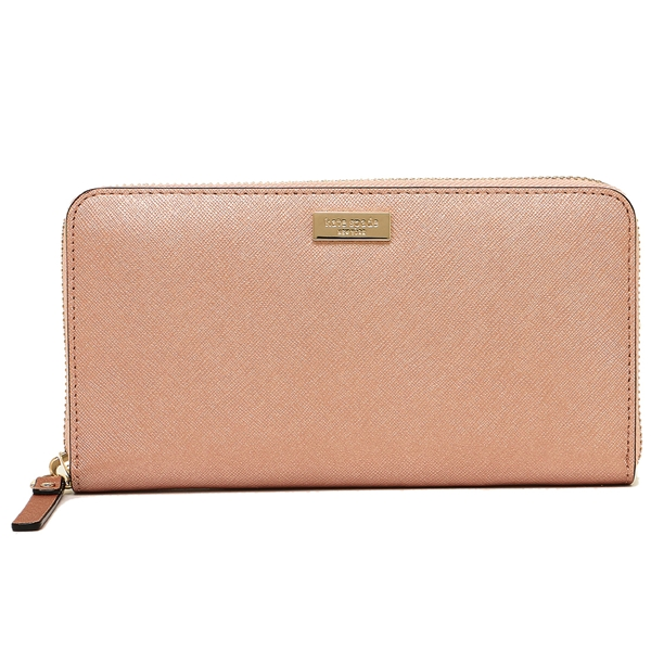 Kate Spade Laurel Way Neda Zip Around Continental Long Wallet Rosegold # WLRU2669