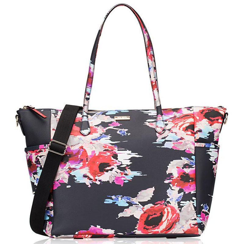 Kate Spade Laurel Way Printed Adaira Baby Bag Blurry Floral Navy # WKRU4095