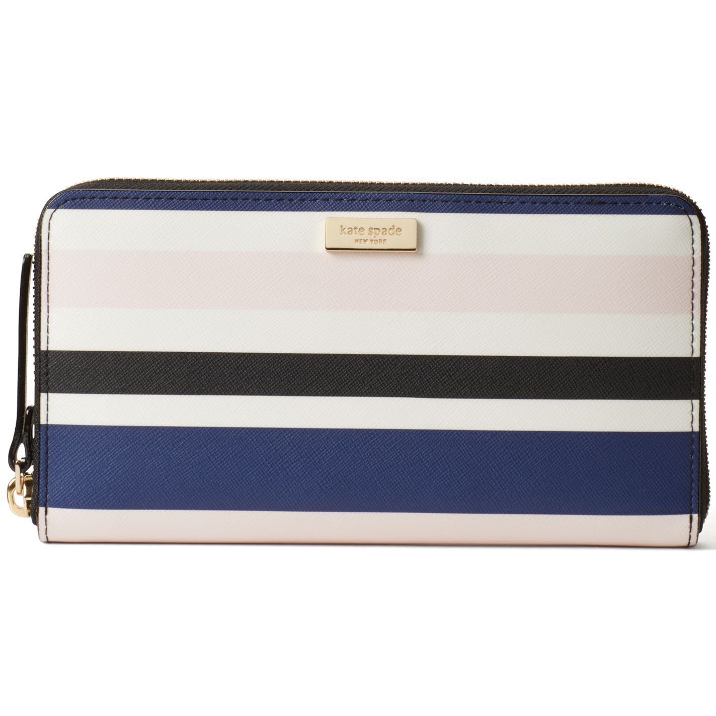 Kate Spade Laurel Way Printed Neda Navy Blue Cruise Stripes # WLRU3020