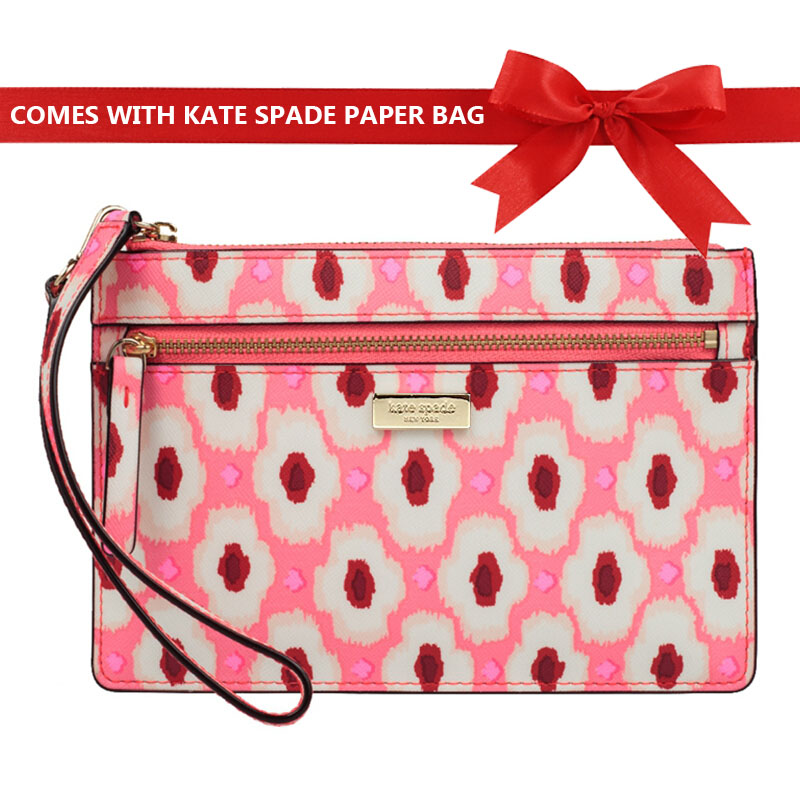 Kate Spade Laurel Way Printed Tinie Hot Pink Spots # WLRU2918