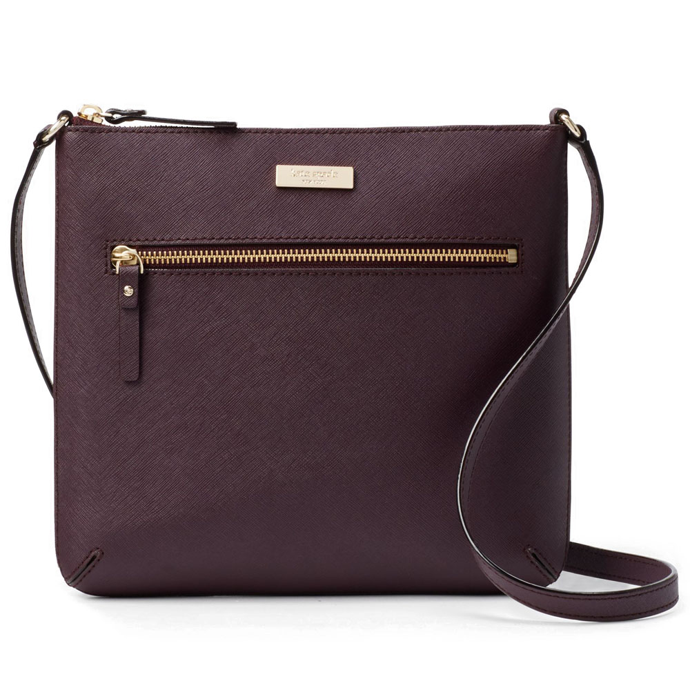 Kate Spade Laurel Way Rima Crossbody Bag Mahogany # WKRU4496