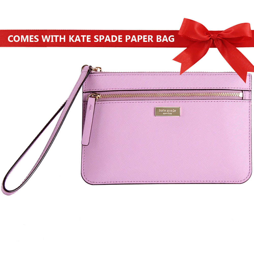Kate Spade Laurel Way Tinie Wristlet Lilac Petal Purple # WLRU2677