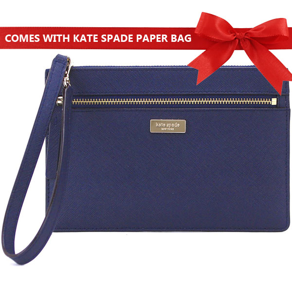 Kate Spade Laurel Way Tinie Wristlet Oceanic Blue # WLRU2677
